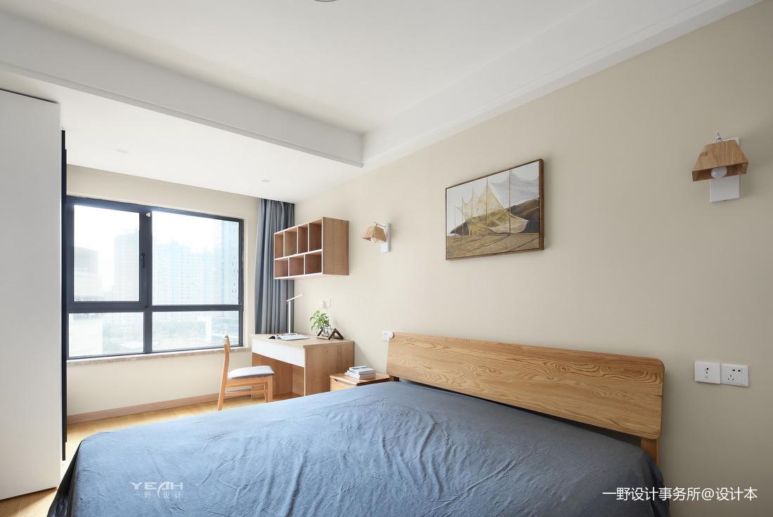 优雅70平日式三居卧室实拍图