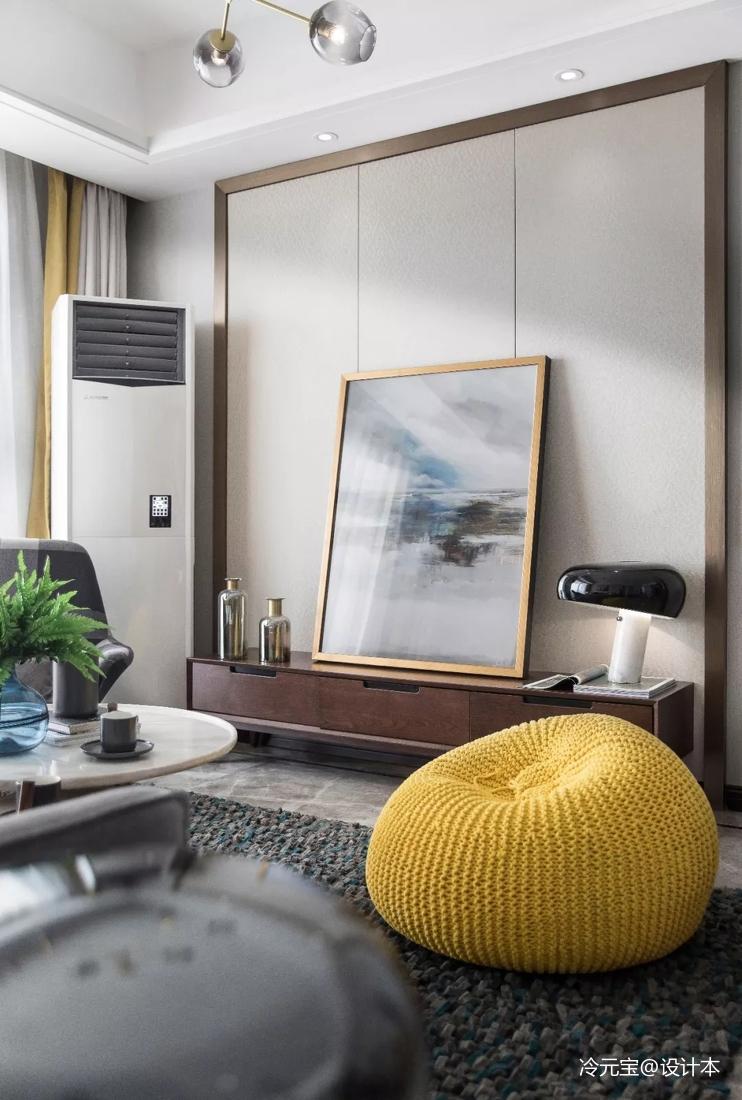 轻奢306平北欧样板间客厅装潢图