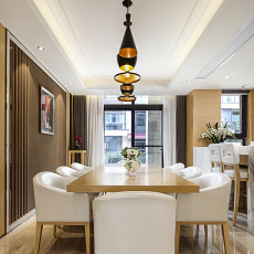 典雅269平现代样板间餐厅装修装饰图