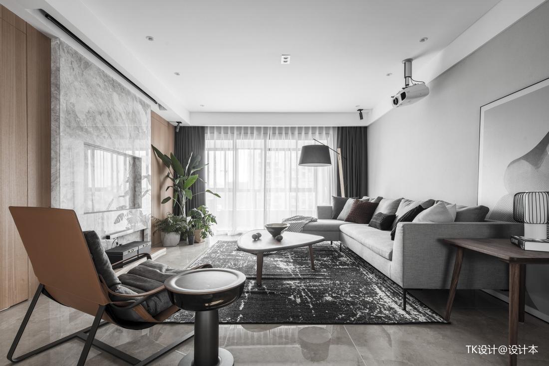 明亮143平简约二居客厅装修案例