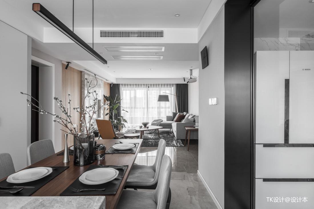 明亮63平简约二居客厅装修案例