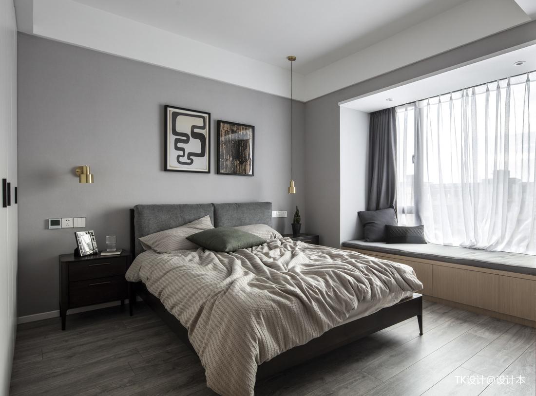 简洁82平简约二居卧室效果图片大全