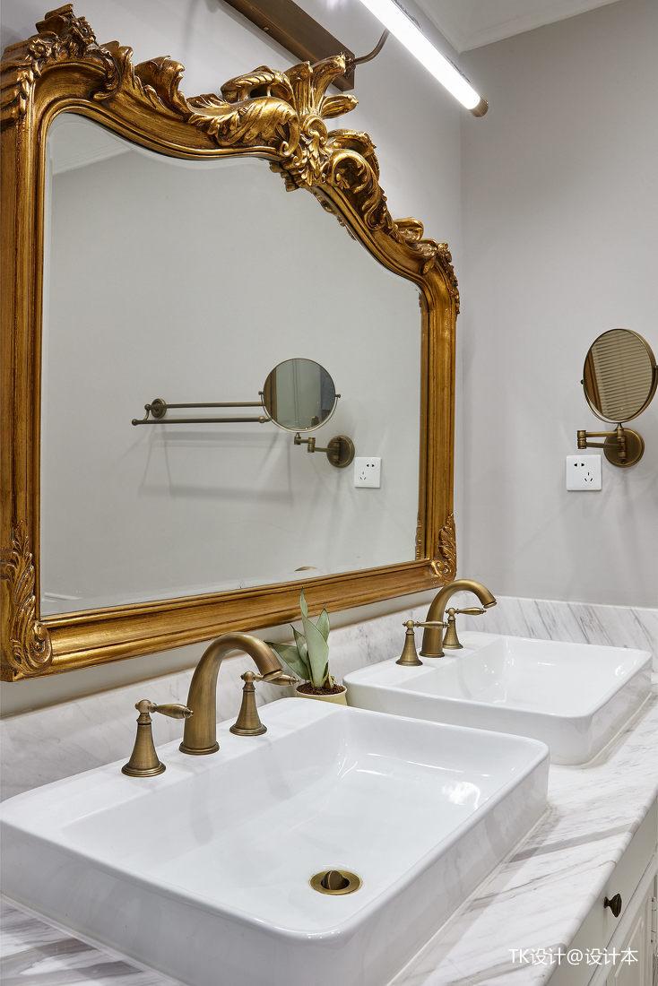 浪漫50平法式复式卫生间装修设计图