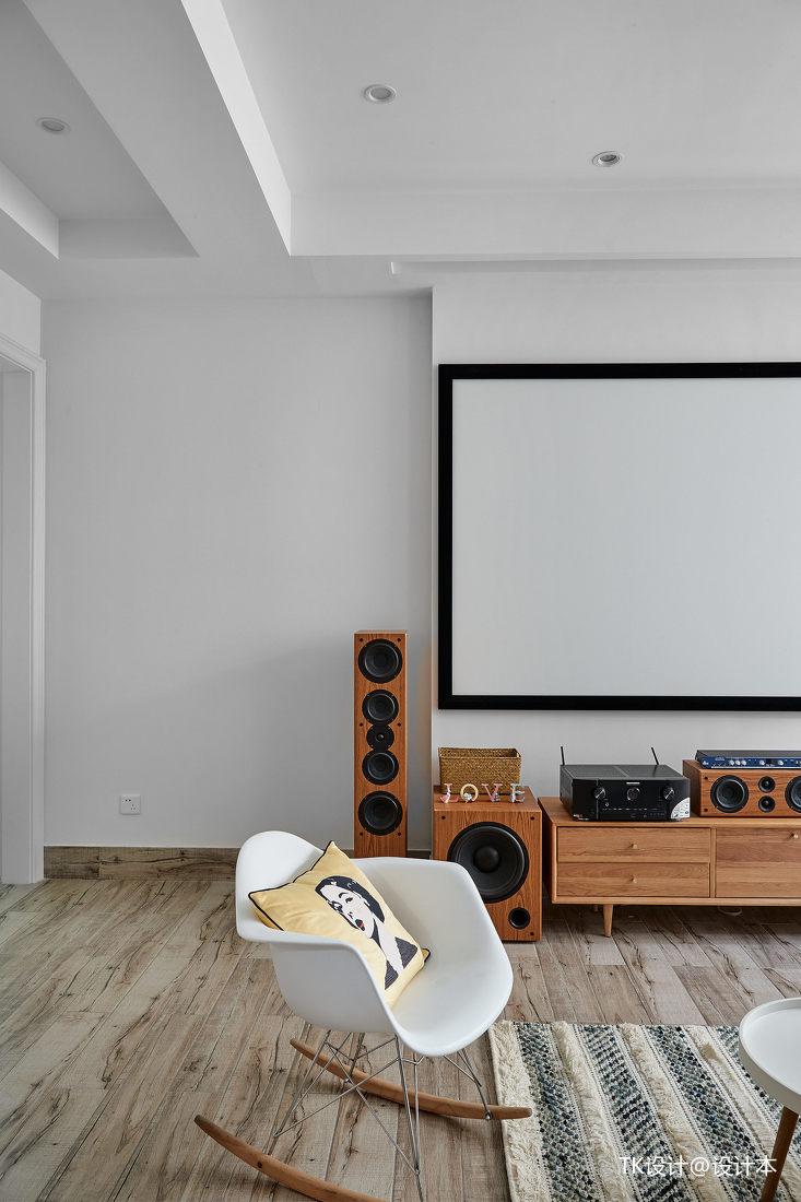 华丽83平法式复式休闲区装修设计图