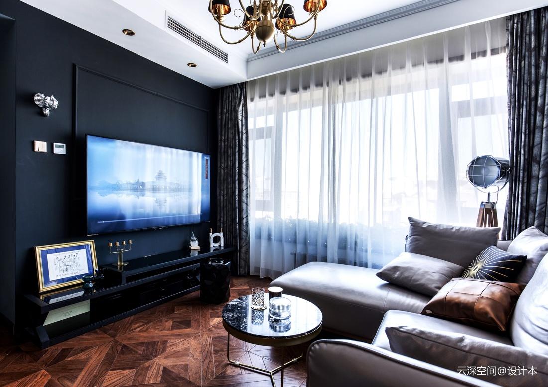 201965平新古典二居客厅效果图欣赏