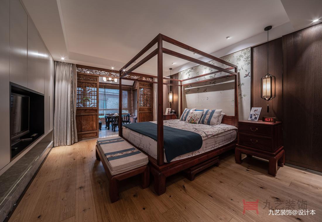 優雅中式主人房設計