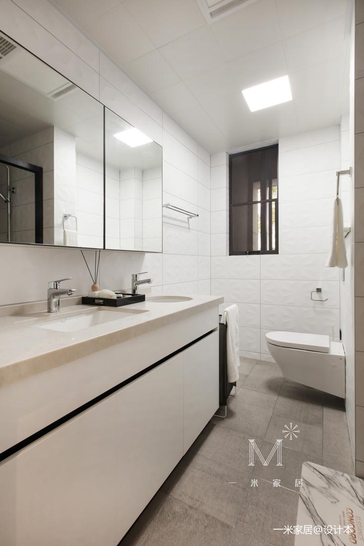 温馨123平现代三居卫生间装饰美图