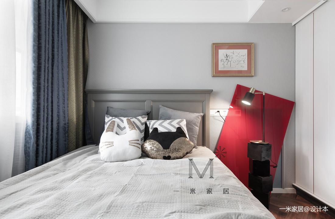 典雅101平混搭三居卧室装饰图