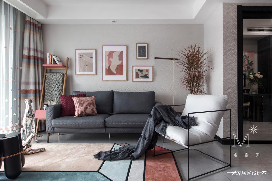 精美21平现代小户型客厅装修效果图