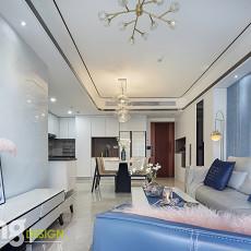 质朴76平现代三居客厅实景图