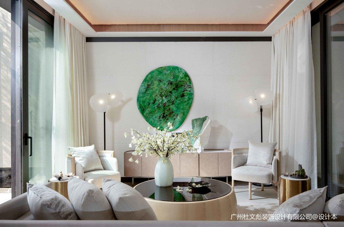 质朴360平现代别墅客厅装修案例