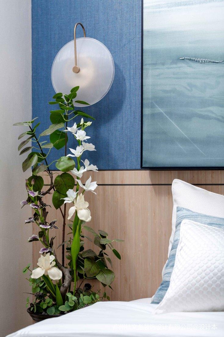 温馨689平现代别墅卧室设计效果图