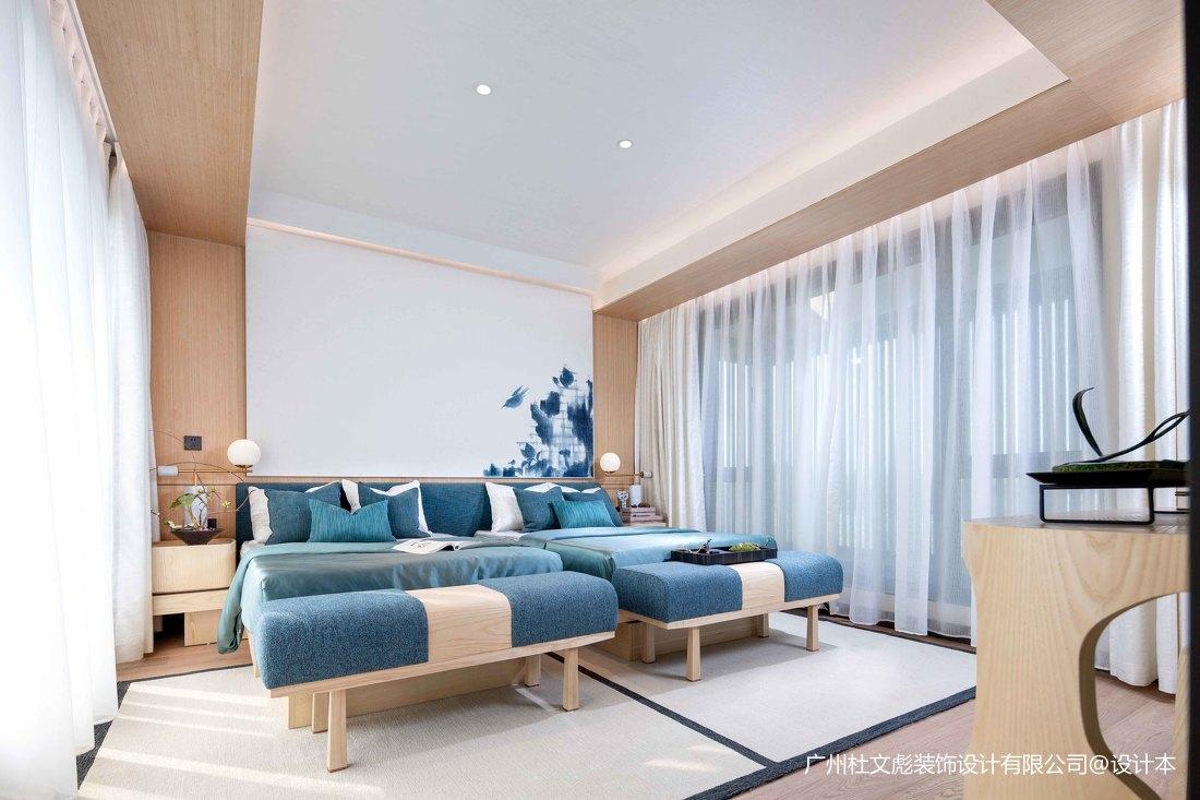 2019806平现代别墅卧室装修设计图
