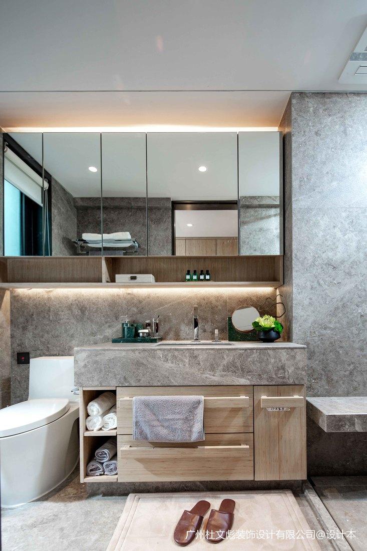 简洁633平现代别墅卫生间实拍图