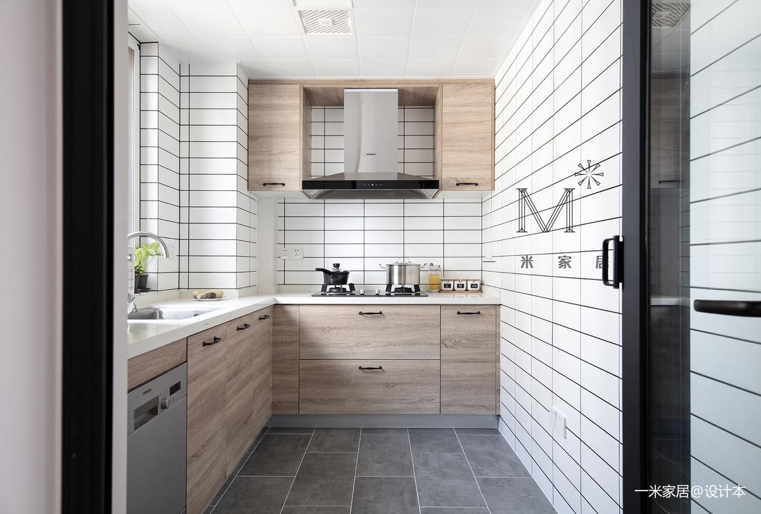 优雅70平现代二居厨房实拍图