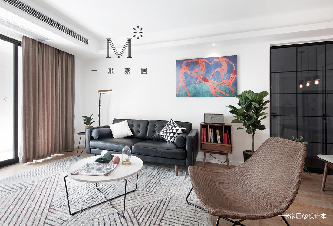 优雅63平现代二居客厅装修效果图
