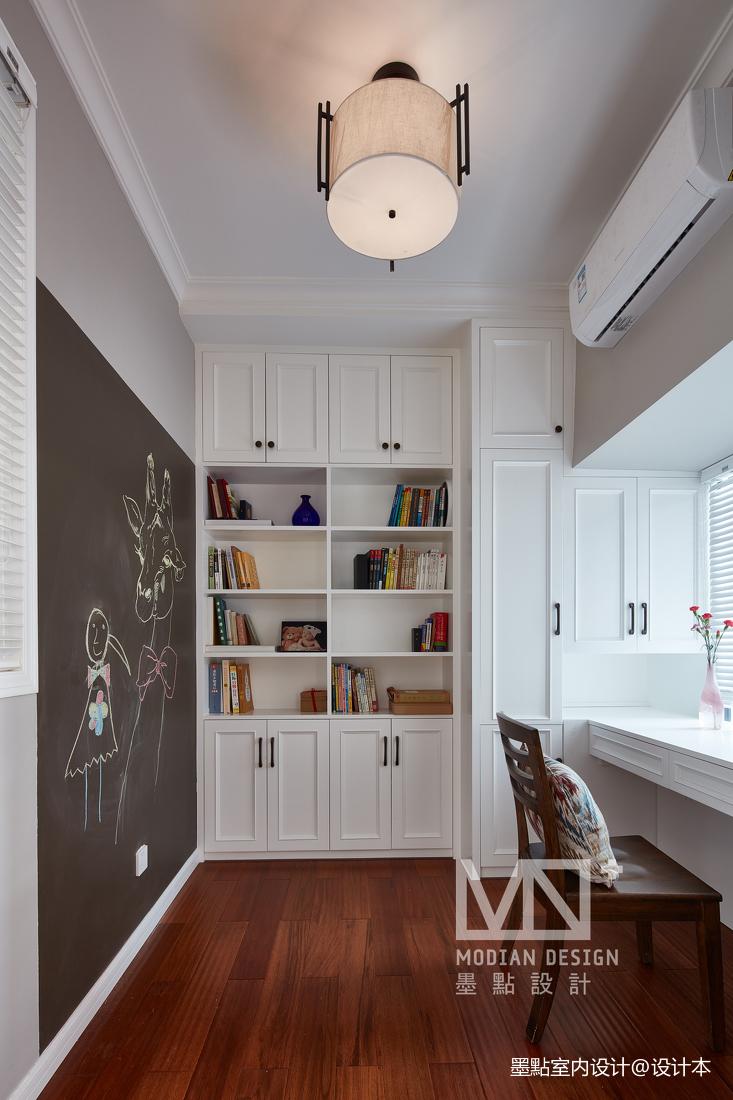 明亮111平美式四居书房装修效果图