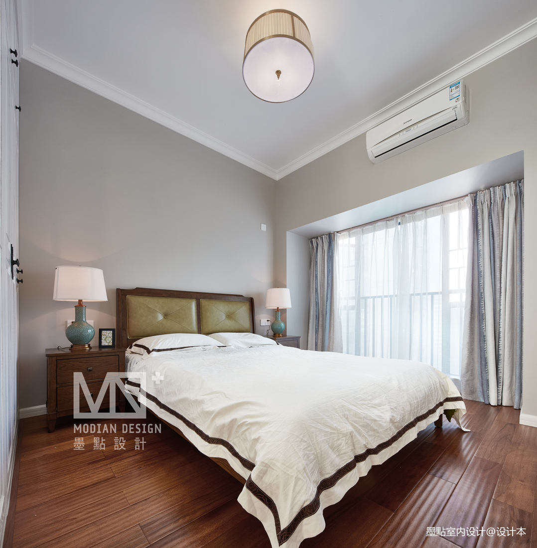 温馨153平美式四居卧室效果图