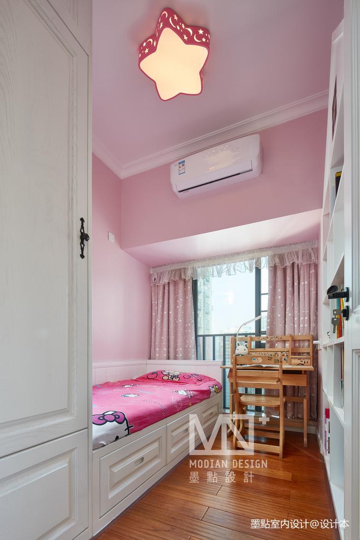 温馨102平美式四居儿童房设计案例