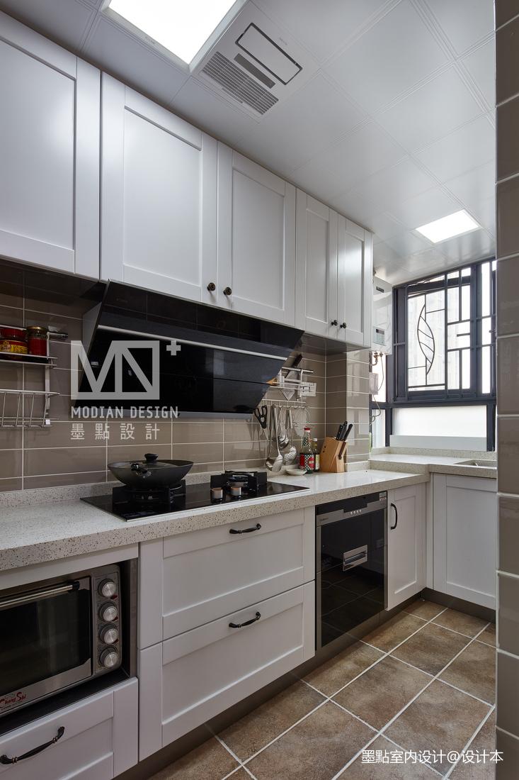 优美124平美式四居厨房装修效果图