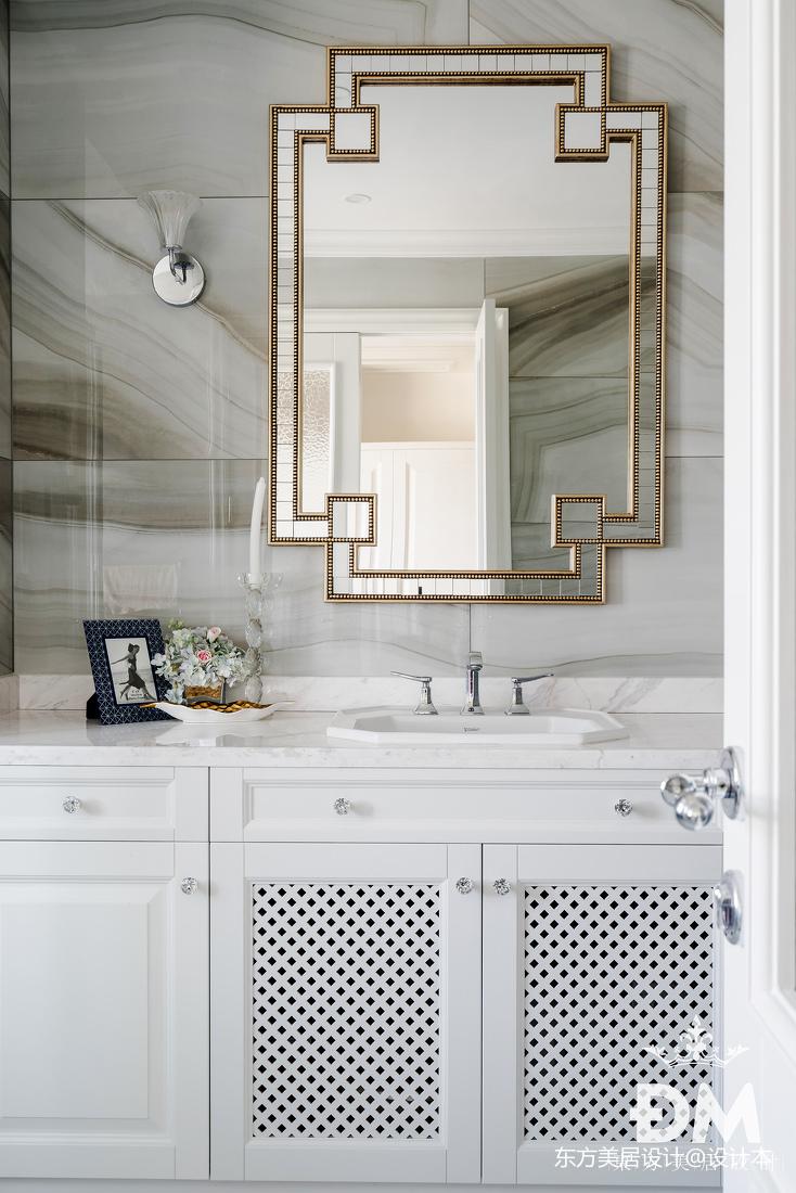 600平复式住宅卫浴洗手台实景图片