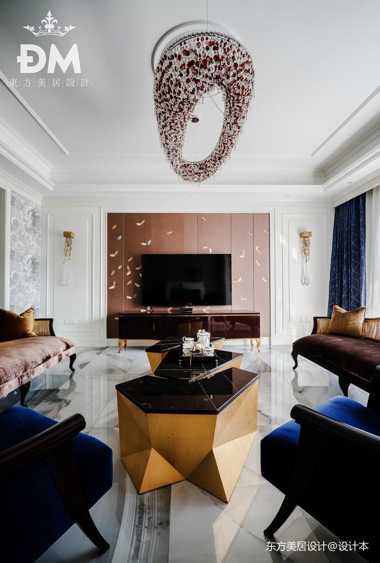 600平复式住宅客厅吊灯设计