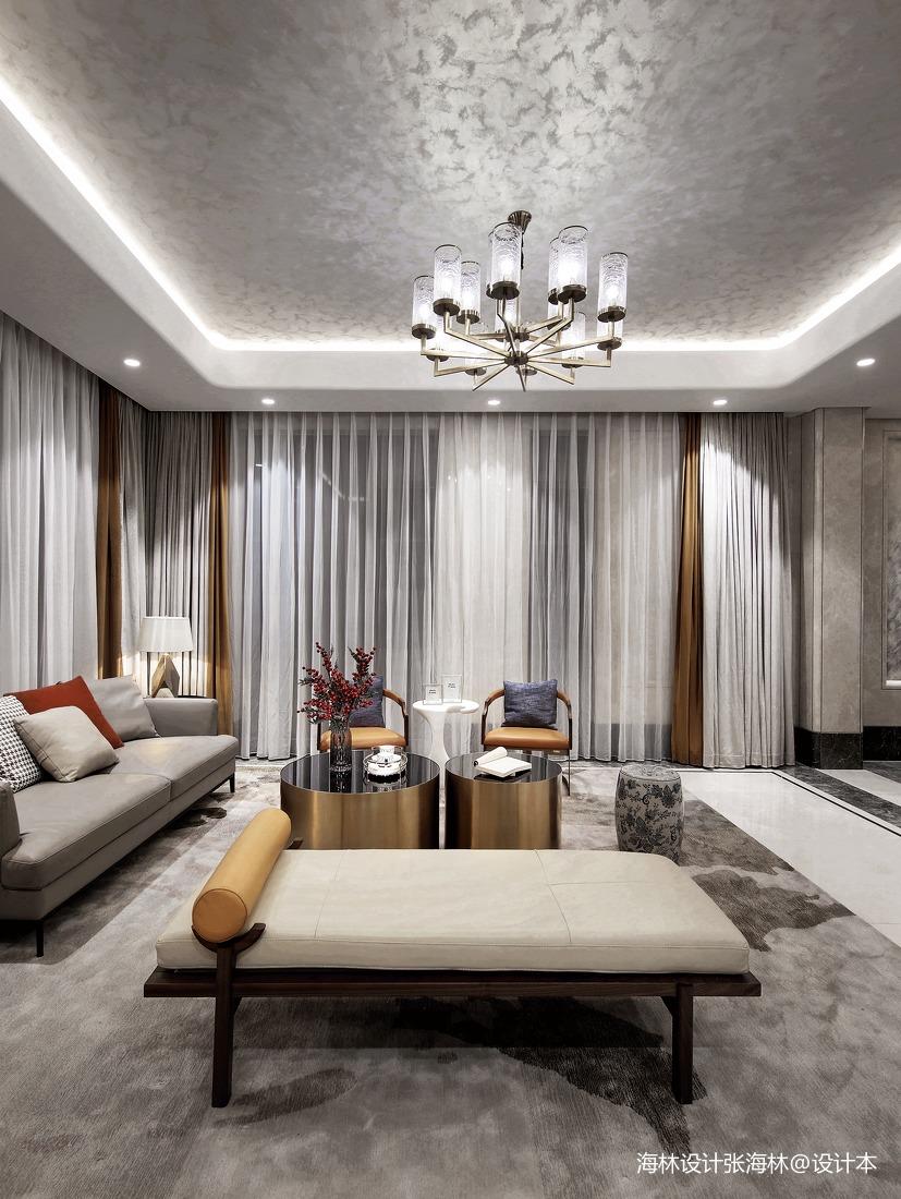 优雅467平中式别墅客厅实景图片