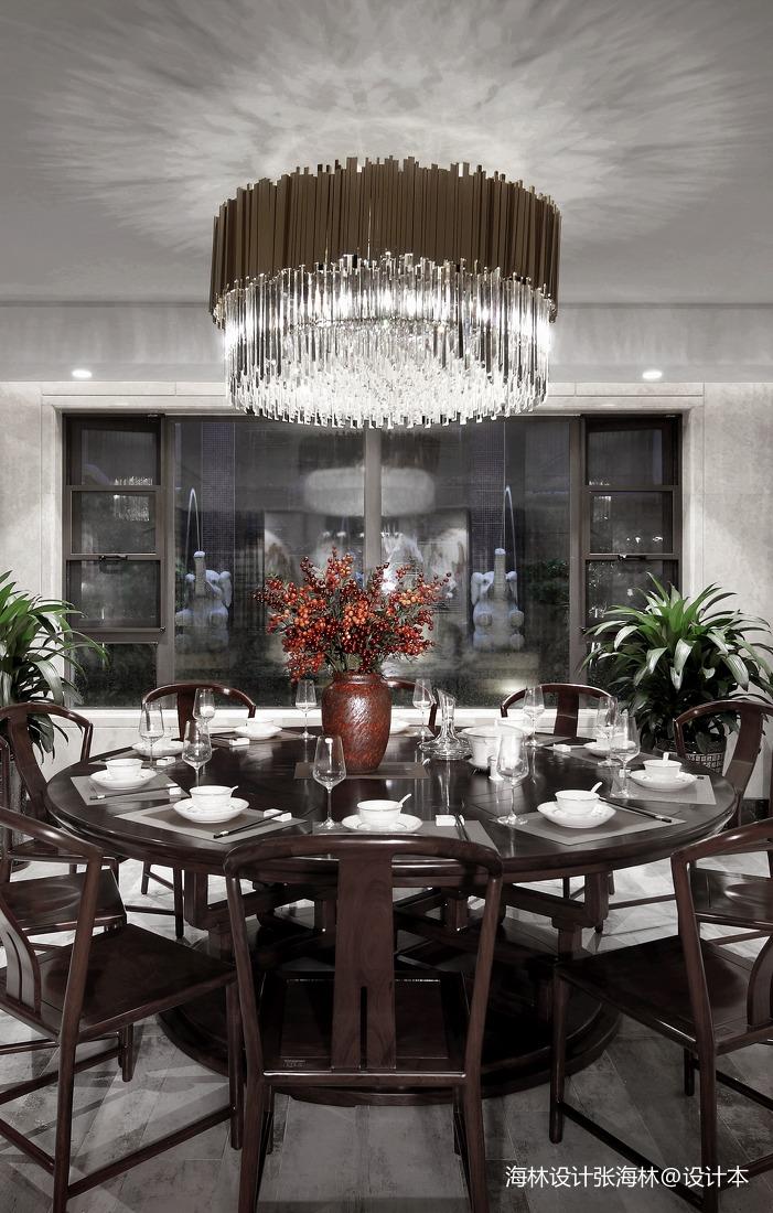温馨757平中式别墅餐厅美图