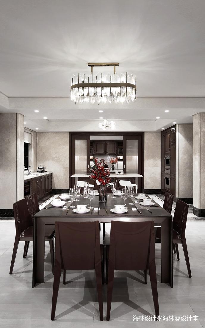 华丽516平中式别墅餐厅装饰图