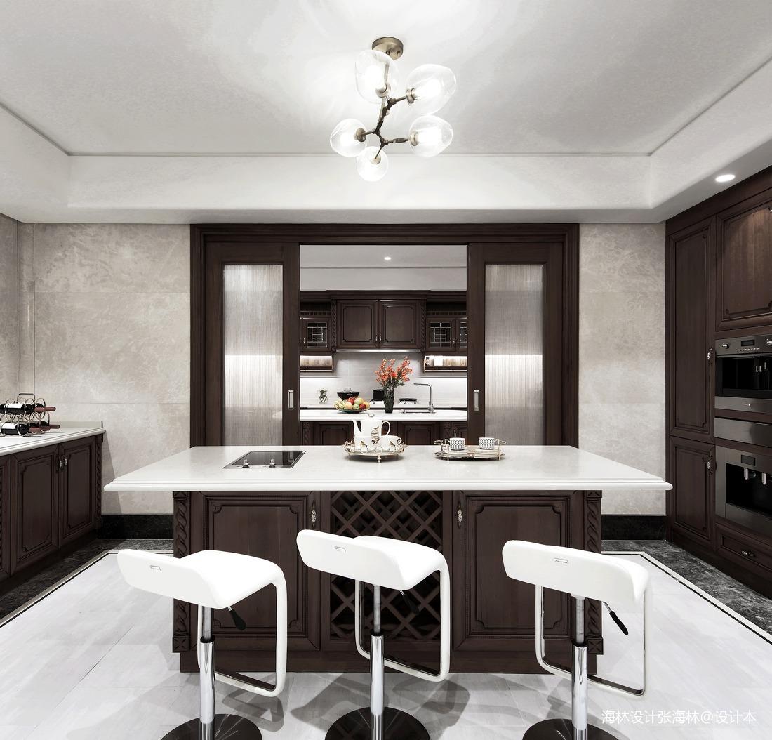 优雅732平中式别墅厨房设计案例