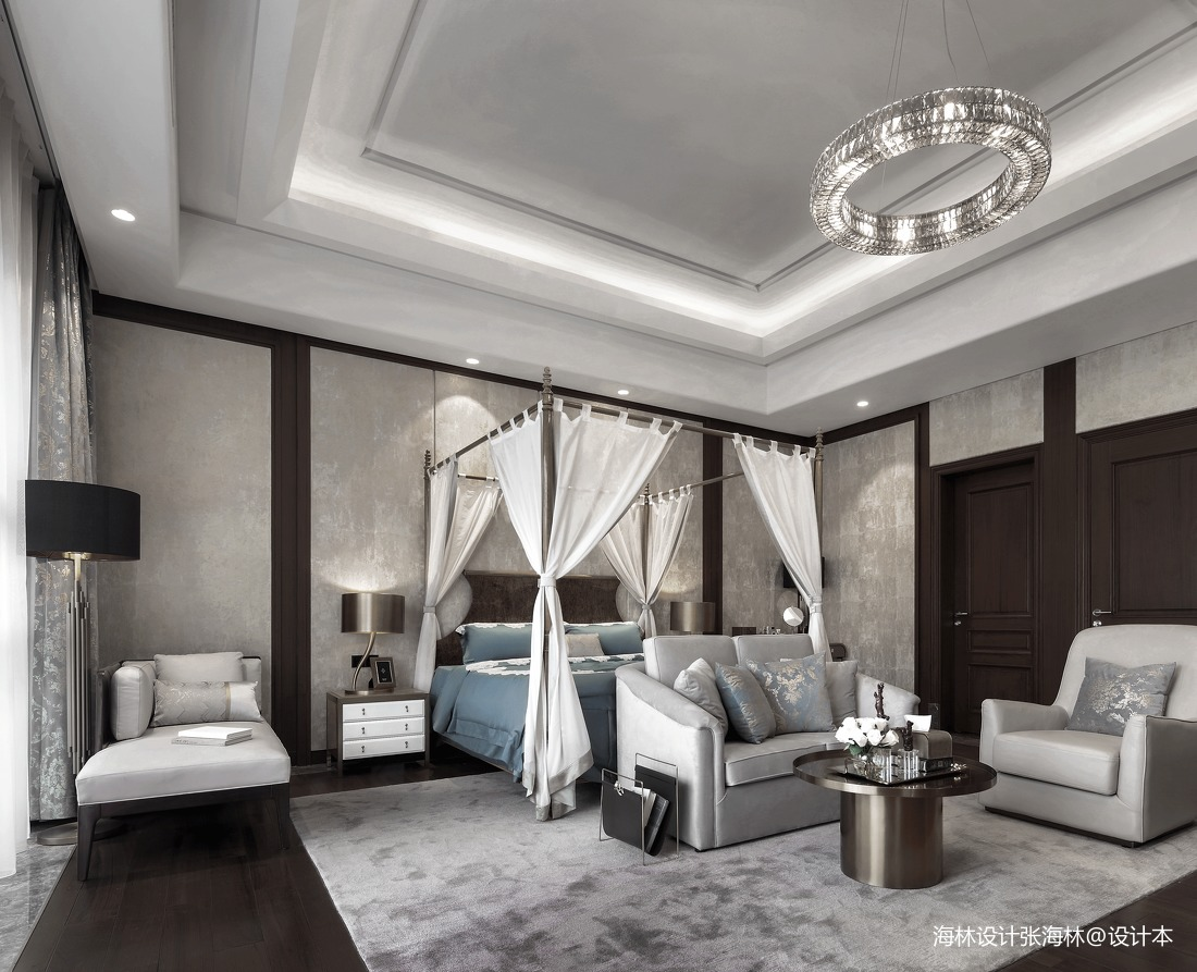 精美980平中式别墅卧室装修美图