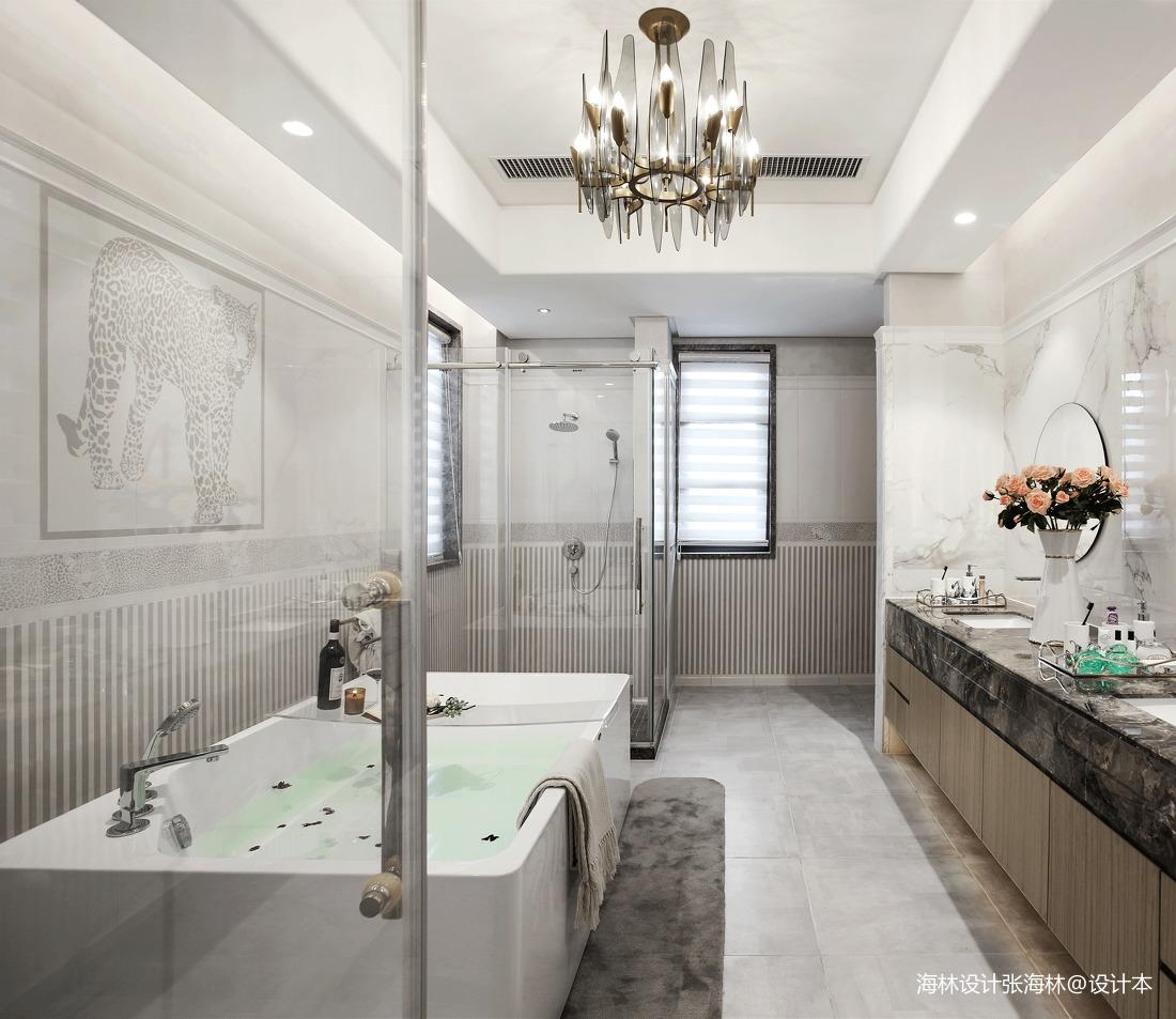 温馨780平中式别墅卫生间设计效果图
