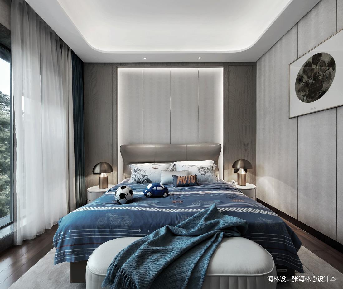 典雅434平中式别墅卧室实拍图