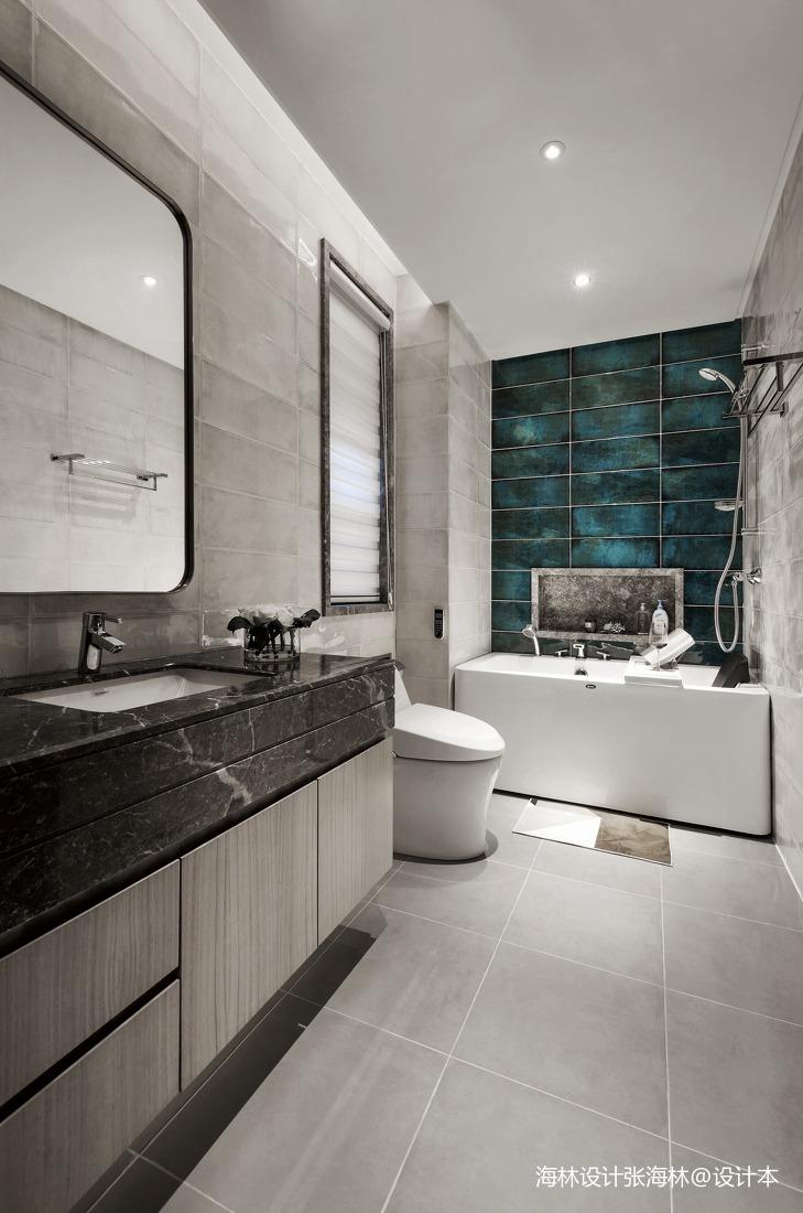 华丽333平中式别墅卫生间实景图