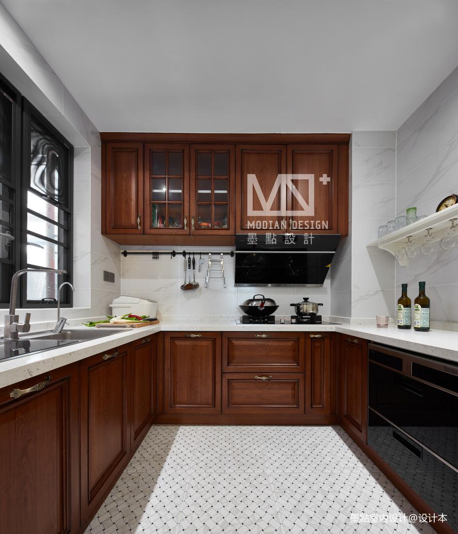 温馨70平美式三居厨房装修装饰图