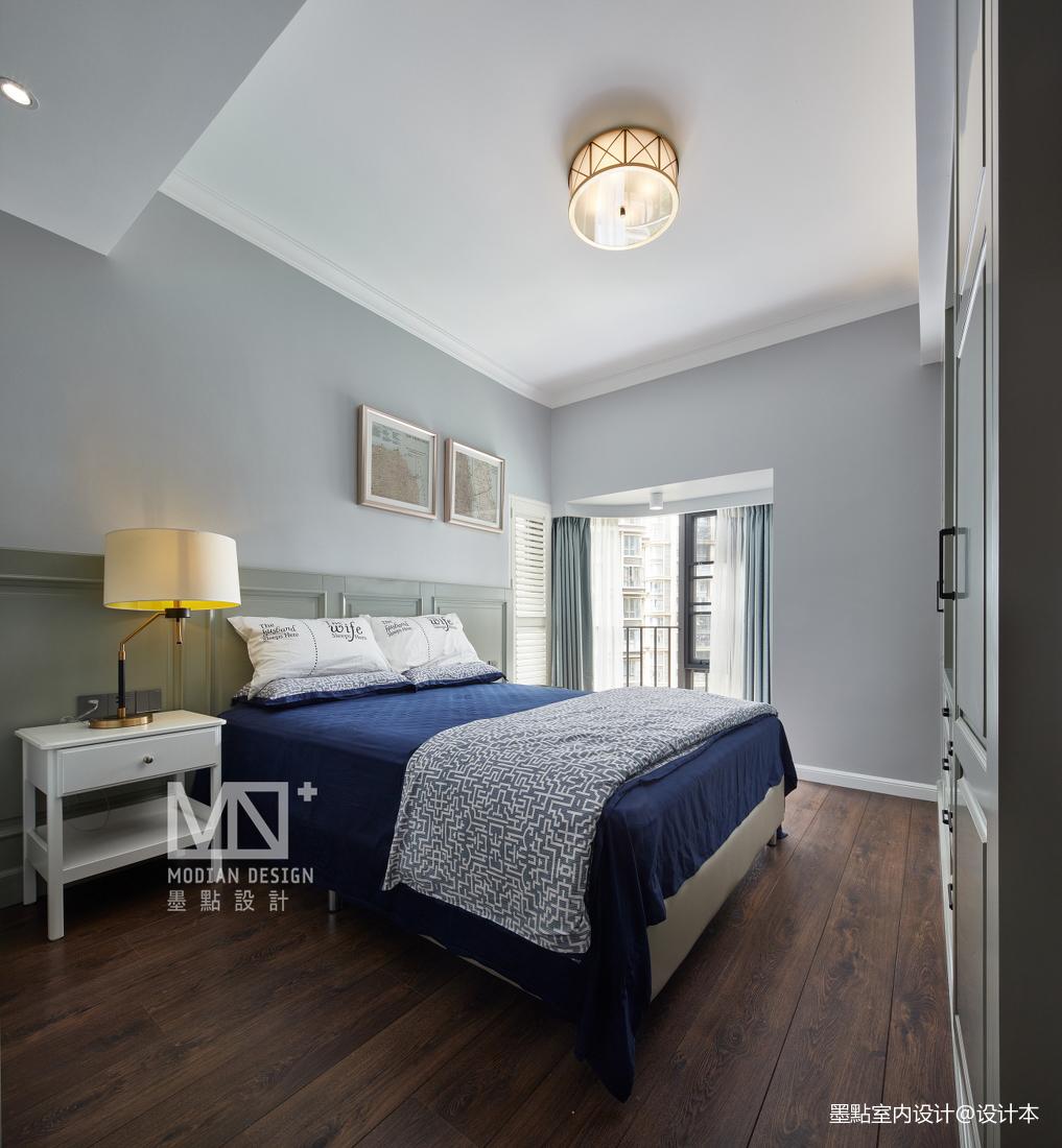 优雅98平美式三居卧室装饰图片