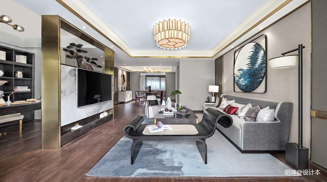 质朴198平中式样板间客厅装饰美图
