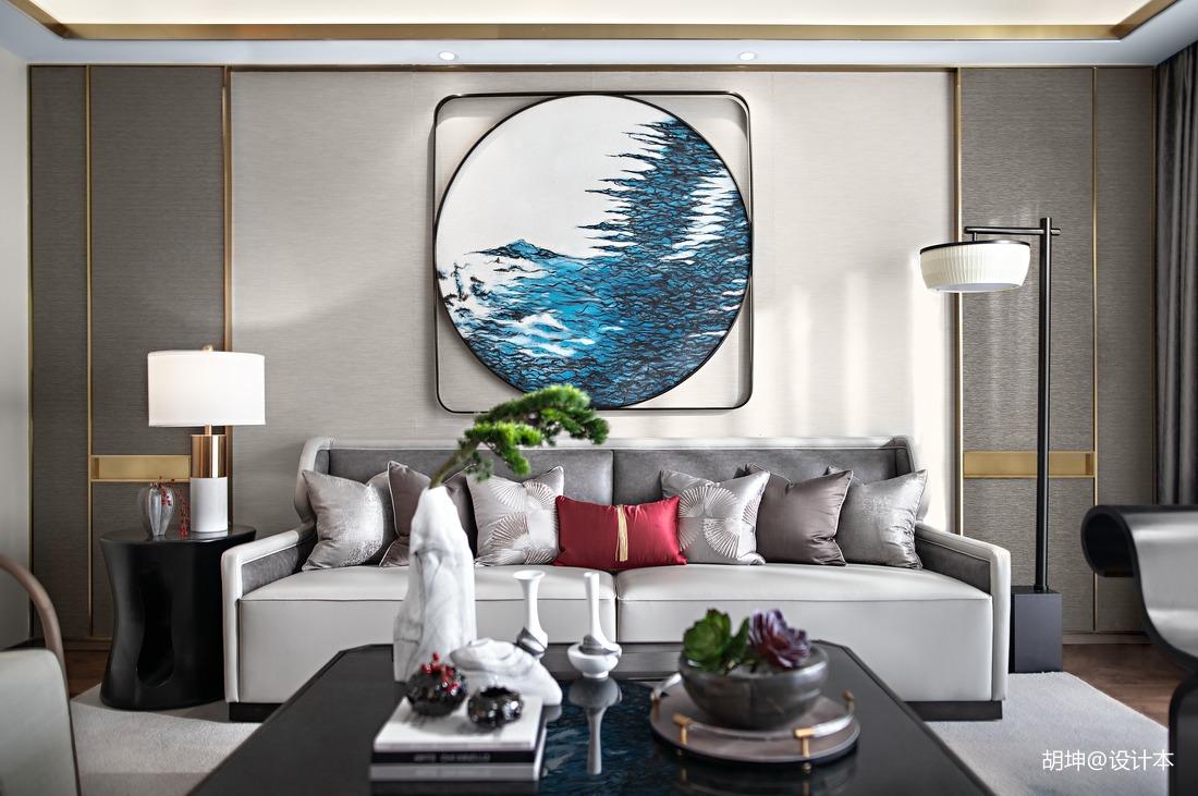 精致327平中式样板间客厅设计美图