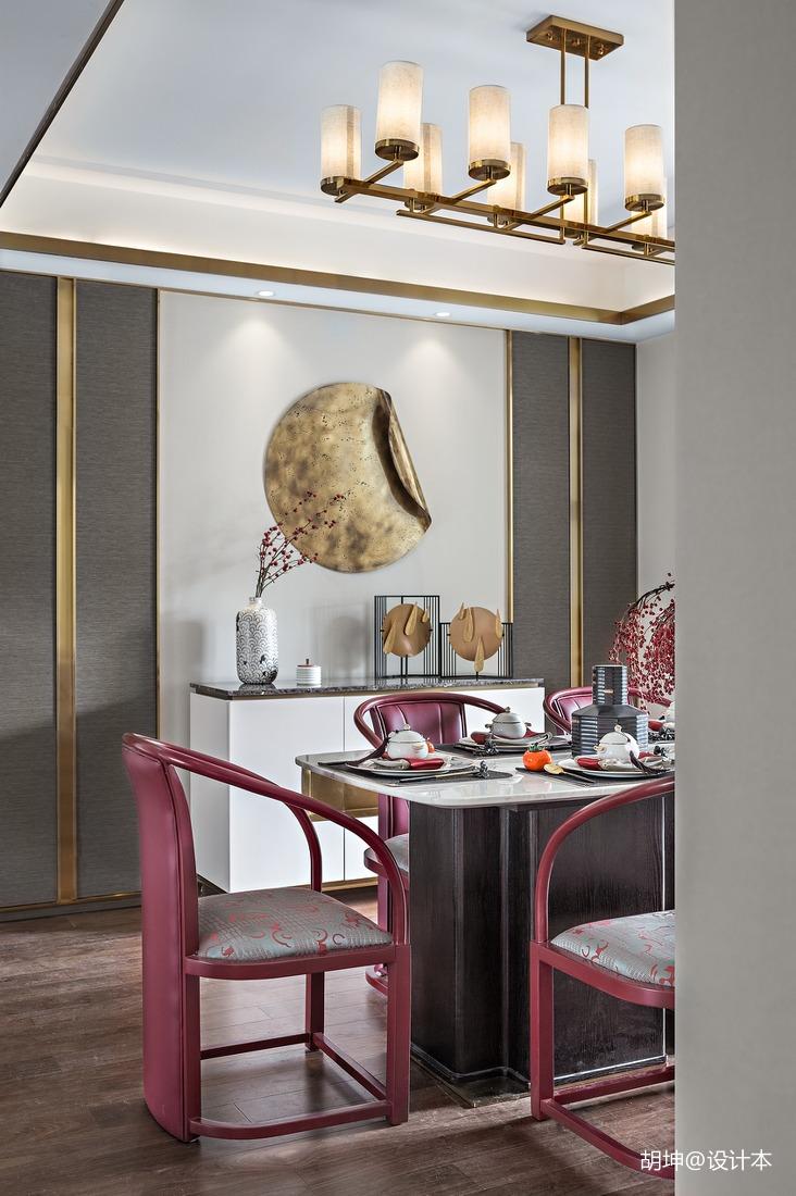 温馨301平中式样板间餐厅装修图