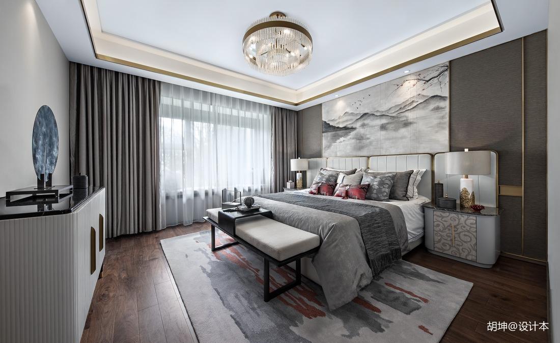 温馨256平中式样板间卧室装修设计图