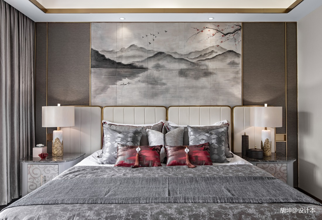 精美250平中式样板间卧室装修图片