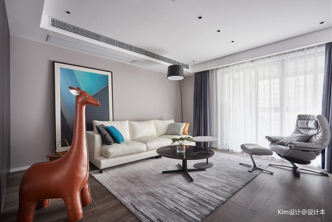 精致142平现代四居客厅装修装饰图