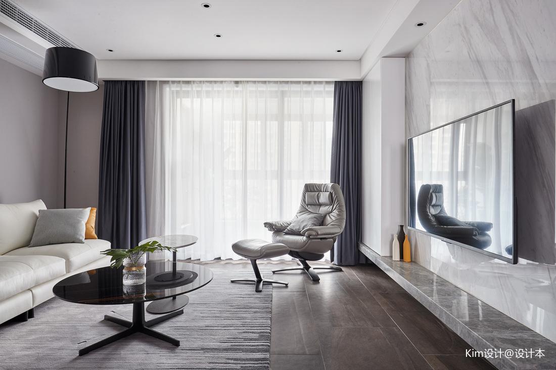 典雅156平现代四居客厅装修图