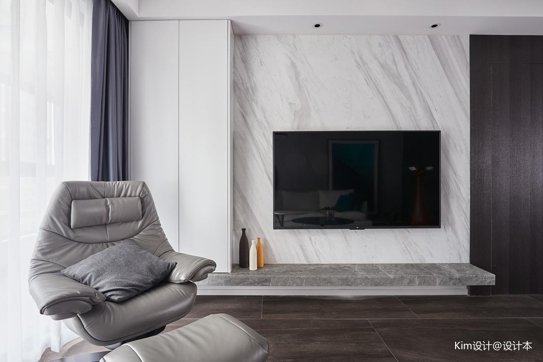 温馨105平现代四居装修案例