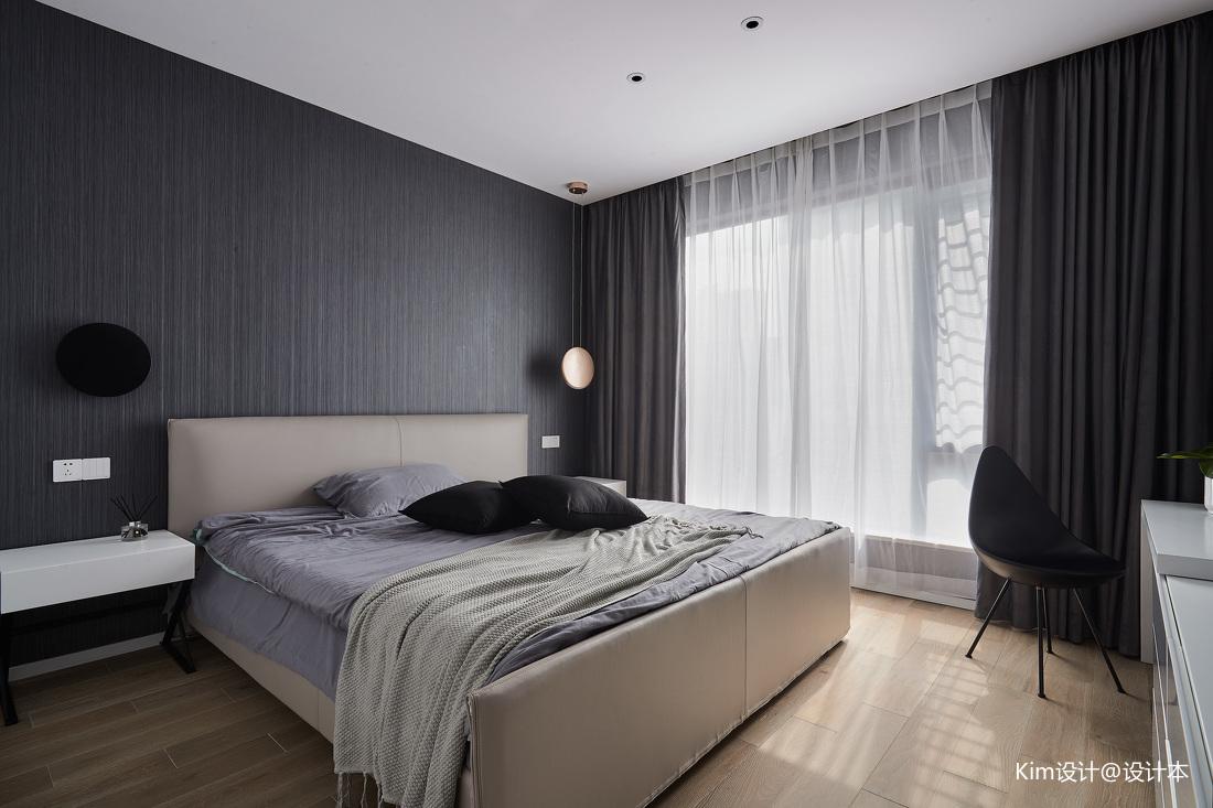 简洁158平现代四居卧室装修图