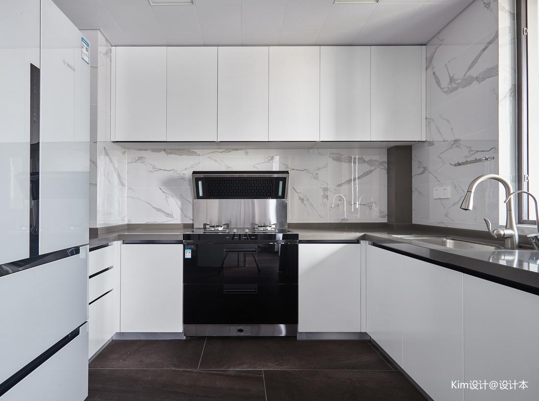 优美144平现代四居厨房图片大全
