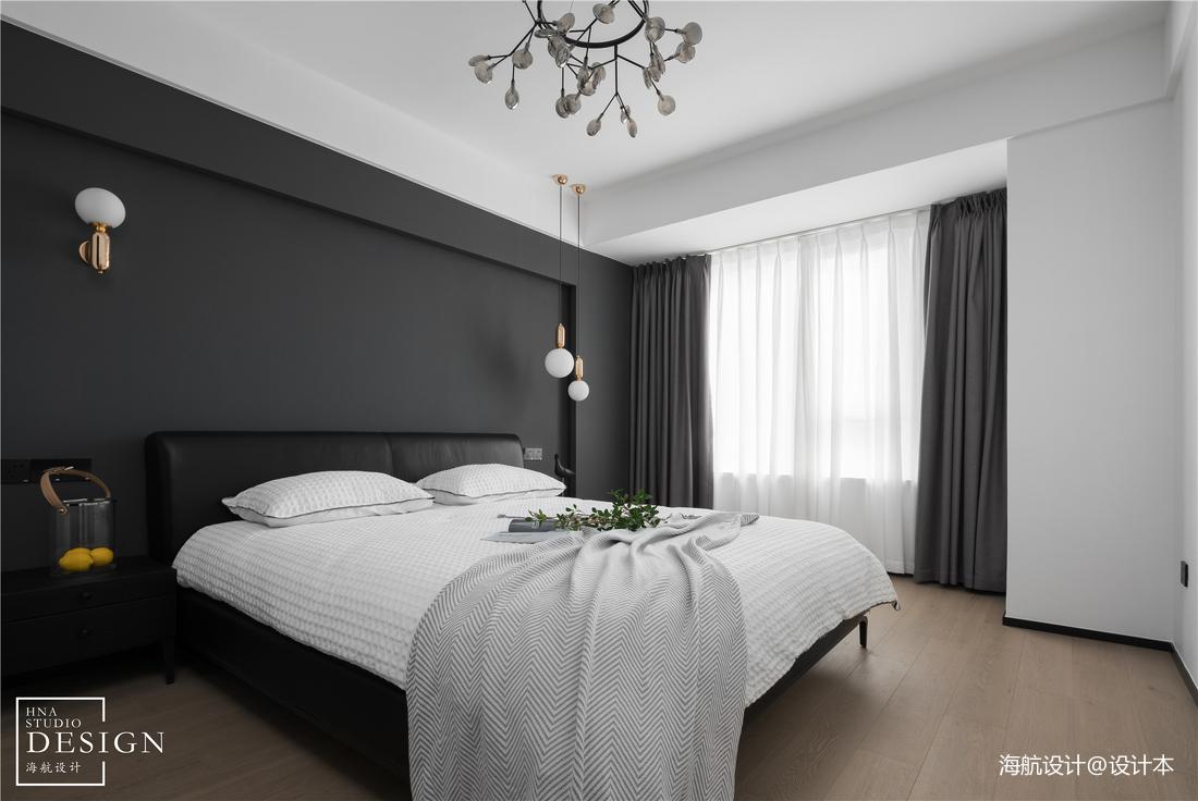 精致95平现代三居卧室装饰图