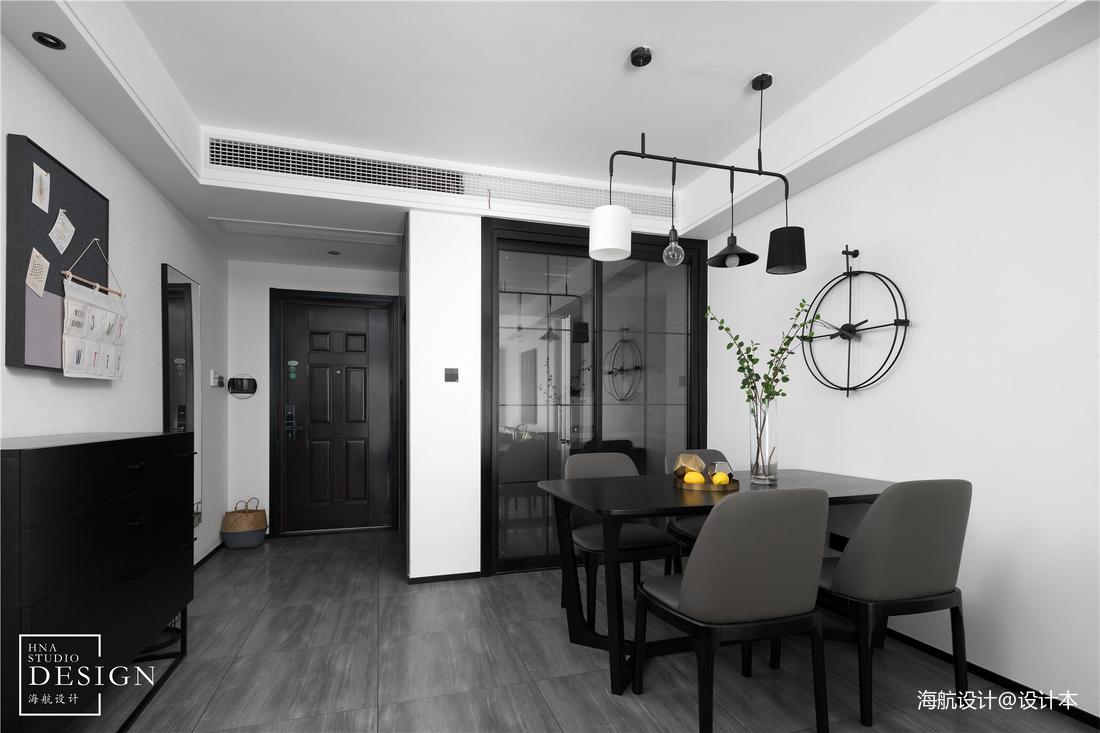 质朴110平现代三居餐厅装修设计图
