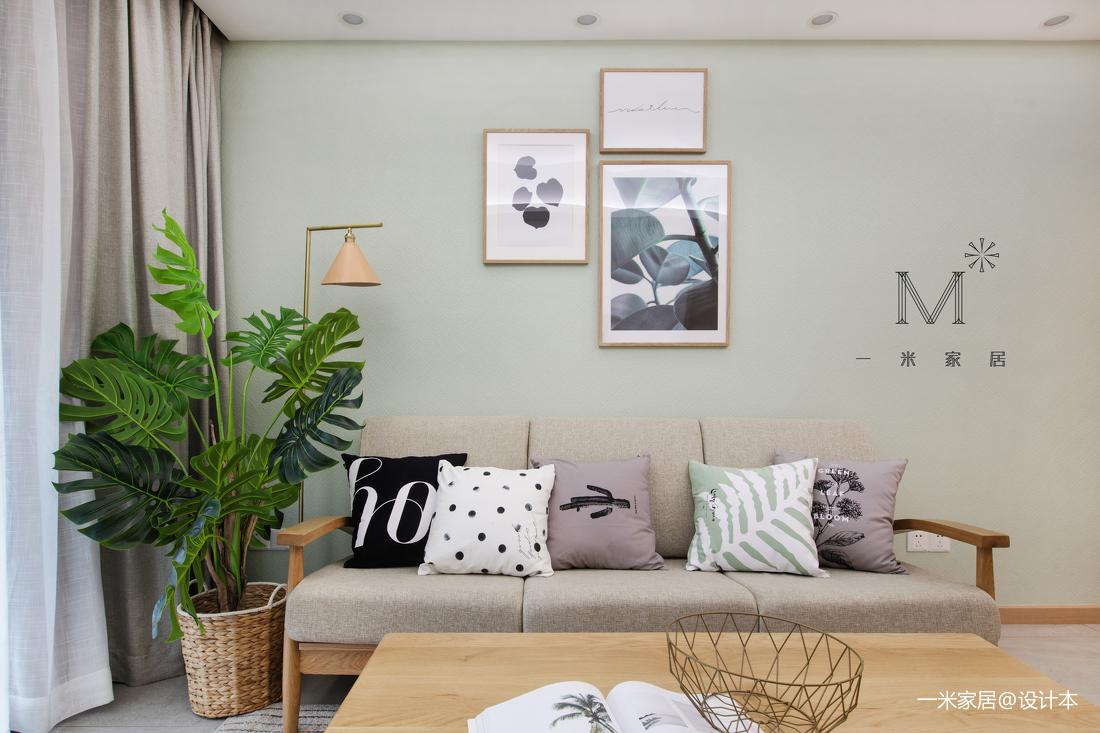 温馨63平混搭二居客厅装饰美图