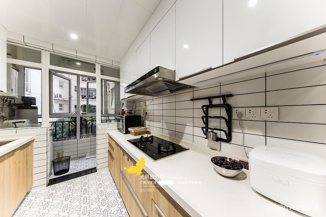 浪漫71平北欧三居厨房实景图片